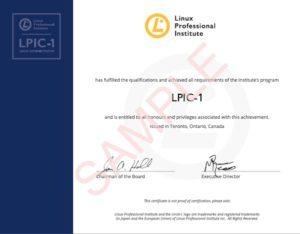Certificat LPI