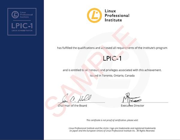 Certificat LPIC désormais disponible au format PDF – LPI France